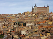Toledo, Spain. A photo featuring the Alcazar (palace) of Toledo, Spain, a UNESCO World Heritage site Stock Images