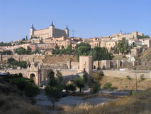 Toledo - Spain. A view of the city of Toledo in Spain Stock Photography