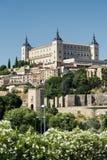 Toledo Spain: alcazaren Royaltyfri Fotografi