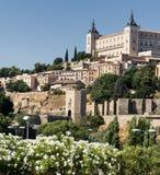 Toledo Spain: alcazaren Arkivfoto