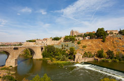 Toledo, Spain. Alkantar Bridge in Toledo, Spain Royalty Free Stock Image