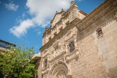 Architectural detail of the museum Santa Cruz de Toledo. Toledo, Spain - April 28, 2018: Architectural detail of the museum Santa Cruz de Toledo on a spring day royalty free stock images