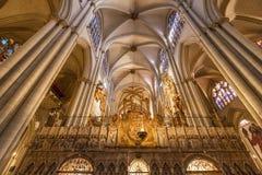 Toledo, Spain - December 16, 2018 : Interior of Toledo cathedral in historic medieval city of Toledo. Spain stock image