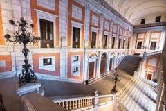 Toledo, Spain - December 16, 2018: Interior courtyard of Alcazar of Toledo, Castilla la Mancha, Spain.  royalty free stock image