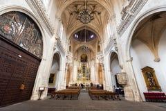 Toledo, Spain - December 16, 2018: Interior of the Monastery of San Juan de los Reyes in Toledo, Castilla la Mancha, Spain.  stock photo