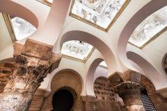 Toledo, Spain - December 16, 2018: Interior of the Mosque of Cristo de la Luz, Toledo, Castilla la Mancha, Spain.  royalty free stock photo