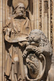 Toledo, Spain. Detail of the Cathedral of Toledo, Spain Stock Photo