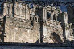 Toledo Spain: gotisk domkyrka Royaltyfri Foto