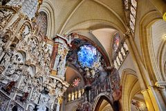 Toledo Spain. Inside the Cathedral of Toledo, Spain Royalty Free Stock Image