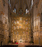 TOLEDO, SPAIN - MAY 2014: Altar of Toledo Cathedral Stock Photos