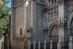 Outdoor view of the Cathedral of Toledo Royalty Free Stock Photography