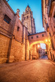 Toledo, Spain: the old town and the Cathedral Stock Photography