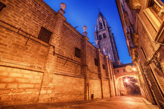 Toledo, Spain: the old town and the Cathedral Stock Image