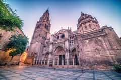 Toledo, Spain: the old town and the Cathedral Squere Stock Images