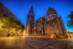Toledo, Spain: the old town and the Cathedral Squere Royalty Free Stock Photo