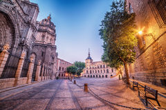 Toledo, Spain: the old town and the Cathedral Squere Royalty Free Stock Images