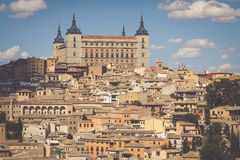 Toledo, Spain old town cityscape at the Alcazar. Stock Photo
