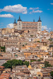 Toledo, Spain old town cityscape at the Alcazar. Royalty Free Stock Photography
