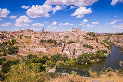 Toledo, Spain old town cityscape at the Alcazar. Stock Images