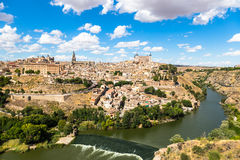 Toledo, Spain old town cityscape at the Alcazar. Royalty Free Stock Image
