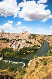 Toledo, Spain old town cityscape at the Alcazar. Stock Image