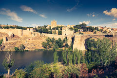 Toledo, Spain old town cityscape at the Alcazar. Stock Photography