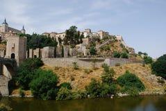Toledo Spain p? en molnig dag arkivfoto