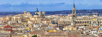 Toledo. Spain. Panorama of medieval Toledo. Spain Royalty Free Stock Photography