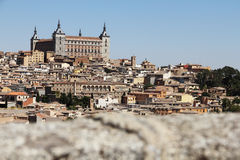 Toledo, Spain. Panoramic view on city at sunny day Royalty Free Stock Photos