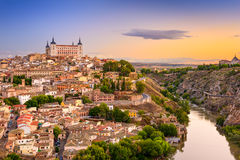 Toledo Spain Skyline Lizenzfreies Stockbild