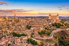 Toledo, Spain Skyline. Toledo, Spain old town skyline Stock Images