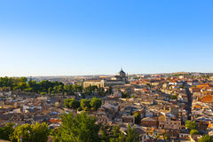 Toledo Spain at sunset Royalty Free Stock Photo