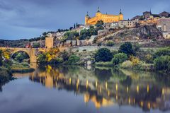 Toledo, Spain on the Tagus River Stock Photography