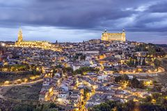 Toledo, Spain on the Tagus River Stock Image