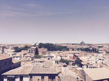 Toledo Spain View. Village medieval Spanish town old Royalty Free Stock Image