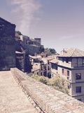 Toledo Spain View. Village medieval Spanish town old Stock Photos