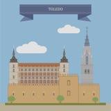 Toledo, Spanien vektor abbildung