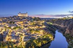 Toledo Spanien stadhorisont Arkivfoton