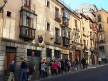 Toledo Spanien, turnerar gruppen Royaltyfria Bilder