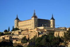 Toledo, Spanish old town at the Alcazar. Toledo, Spain. Old historical town at the Alcazar Royalty Free Stock Photography