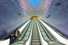 Toledo stacja metru w Naples, Włochy Zdjęcia Stock