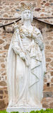 Toledo - Statue of Queen Isabella I of Castile near monastery Monasterio San Juan Royalty Free Stock Images