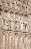 Toledo - Statues of apostles from main gothic portal of Cathedral Royalty Free Stock Photo