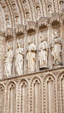 Toledo - Statues of apostles from main gothic portal of Cathedral Primada Santa Maria de Toledo Royalty Free Stock Photography