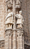 Toledo - Statues from East facade of Monasterio San Juan de los Reyes Royalty Free Stock Photo