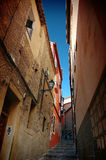 Toledo street. Narrow street in Toled stock photos