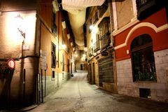 Toledo street at night Stock Photos