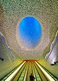 Toledo subway station. NAPLES,ITALY - NOVEMBER 12, 2015. Toledo subway station - the world's most beautiful subway Royalty Free Stock Photo