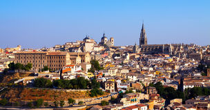 Toledo in sunny day. Spain Royalty Free Stock Photos
