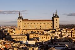 Toledo at sunset Royalty Free Stock Photos